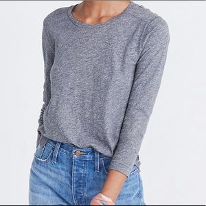 Madewell whisper cotton long-sleeve tee, size S